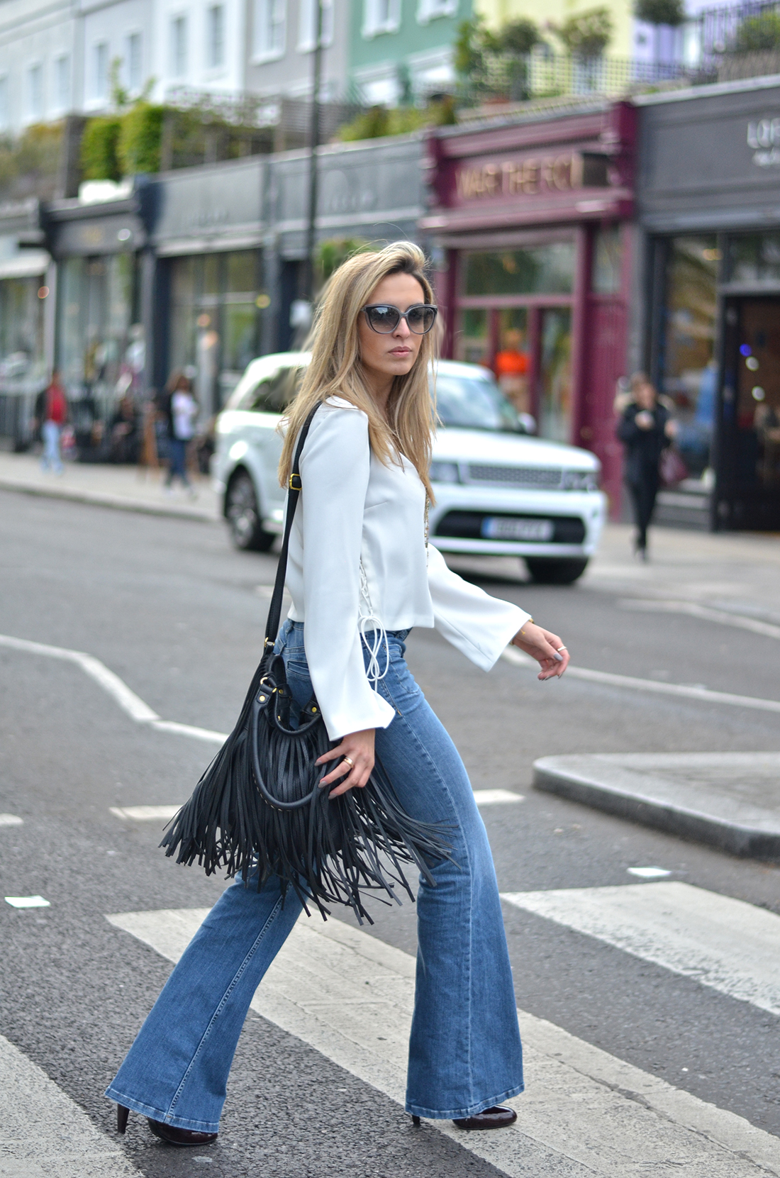 White Flare Jeans For Women - Jeans Am